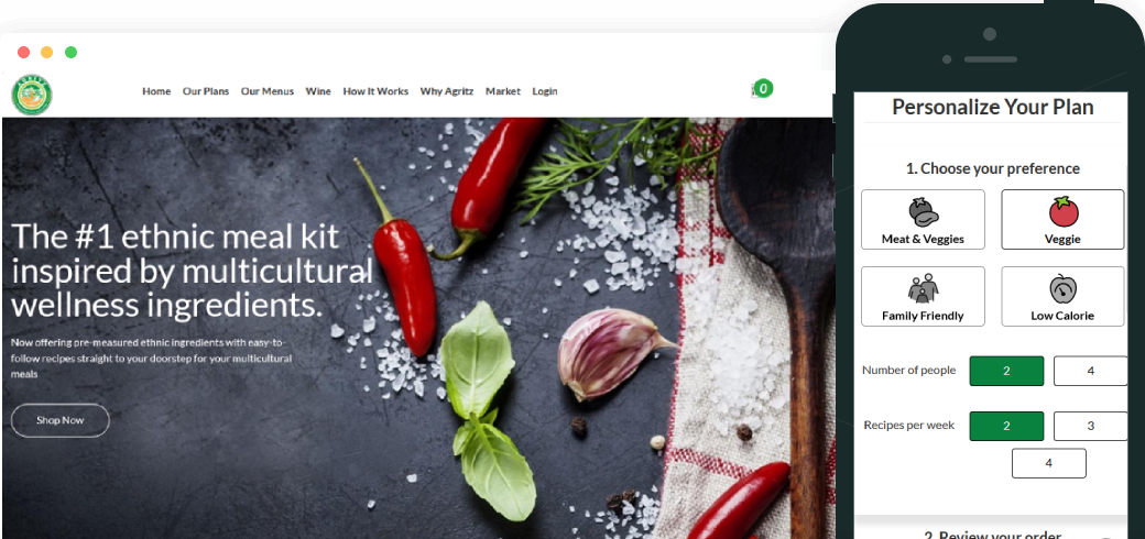 On Demand Meal Kit Application Development